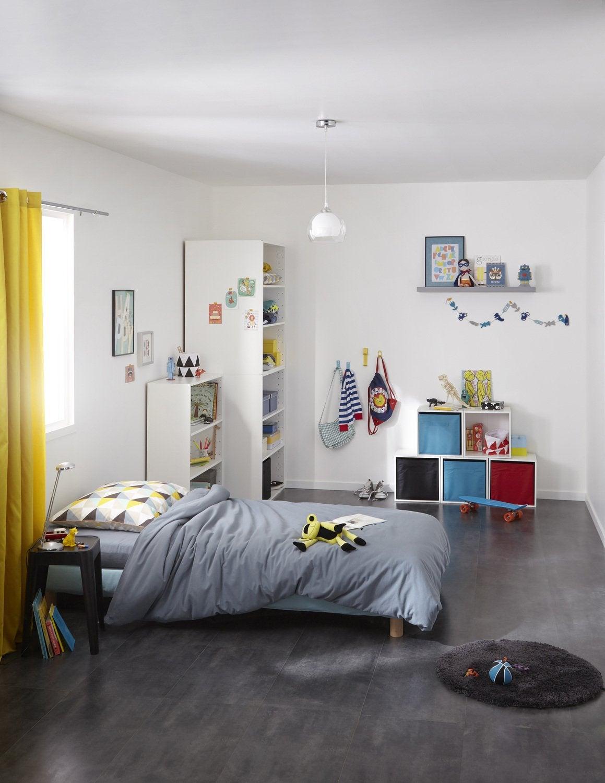 les caissons de rangement se font astucieux dans la chambre d 39 ado leroy merlin. Black Bedroom Furniture Sets. Home Design Ideas
