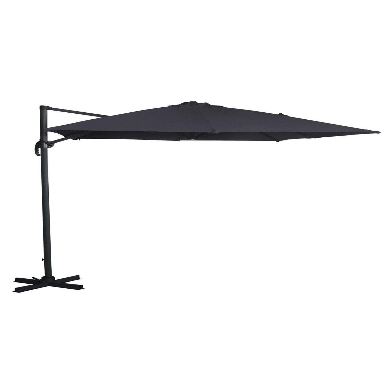 parasol d port hera gris rectangulaire x cm. Black Bedroom Furniture Sets. Home Design Ideas