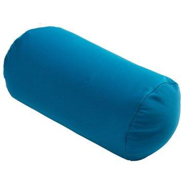 Coussin d'assise de chaise ou de fauteuil bleu Polochon