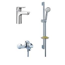 Pack robinet lavabo + mitigeur baignoire mécanique + barre douchette