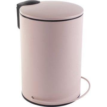 Poubelle de salle de bains accessoires et miroirs de salle de bains au meilleur prix leroy - Poubelle salle de bain rose ...