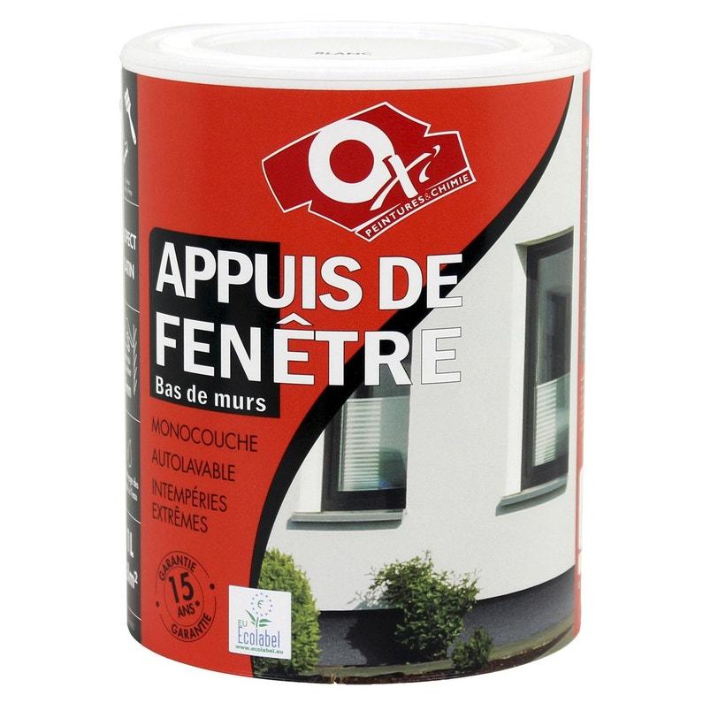 Peinture Appui De Fenêtre Oxytol Gris Anthracite 1 L Leroy Merlin