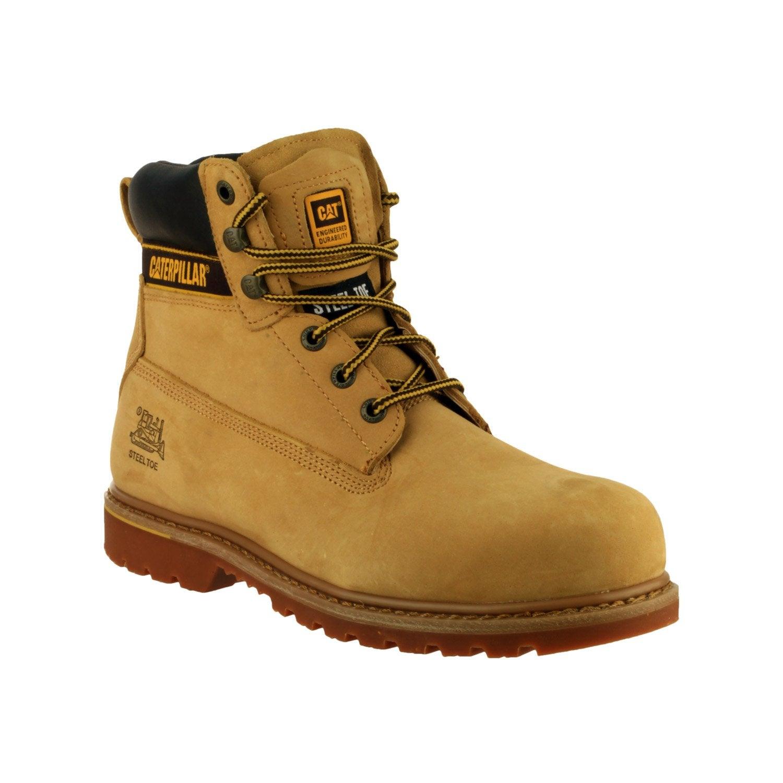 Sécurité Beige Hautes HoltonColoris T40 Chaussures De Caterpillar CdBoxer