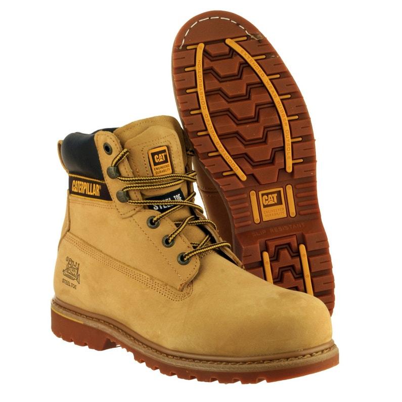 99b4800fb3 ... Chaussures de sécurité hautes CATERPILLAR Holton, coloris beige T42 ...