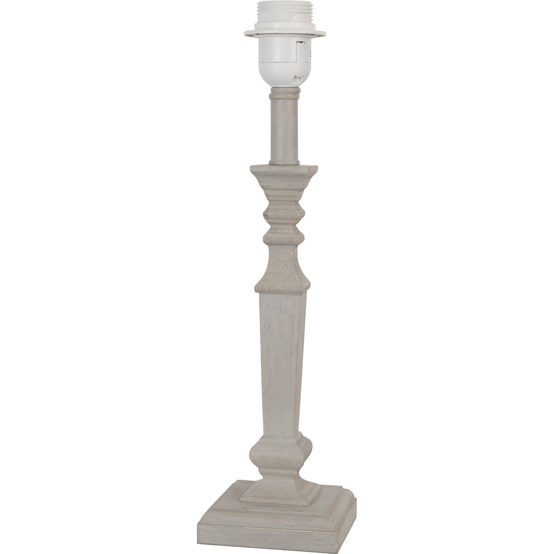 Pied de lampe Jack, bois taupe, 38 cm