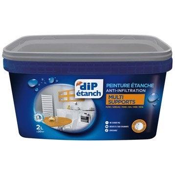 peinture tanche multi supports dip gris galet 2 l - Peinture Hydrofuge Salle De Bain