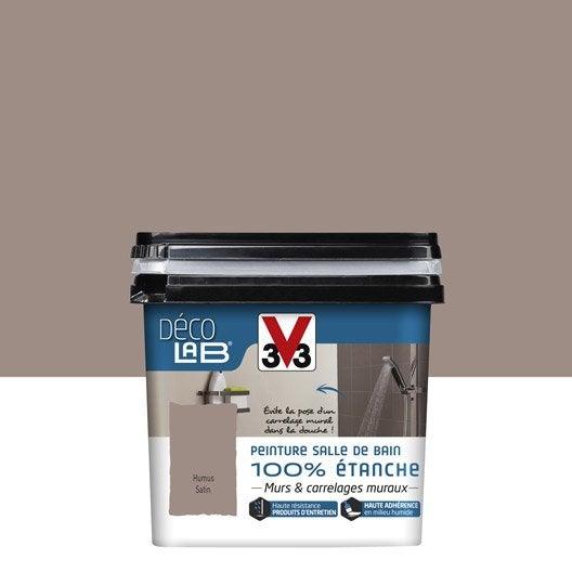 Peinture d colab 100 tanche v33 humus l leroy merlin for Peinture douche acrylique