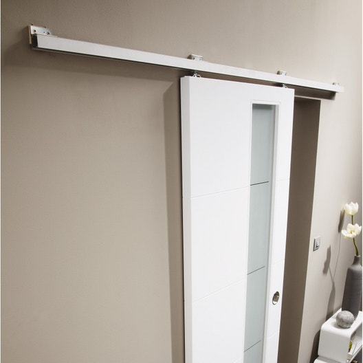 rail coulissant turbo 2 pour porte de largeur 93 cm maximum - Rail Porte Coulissante Suspendue