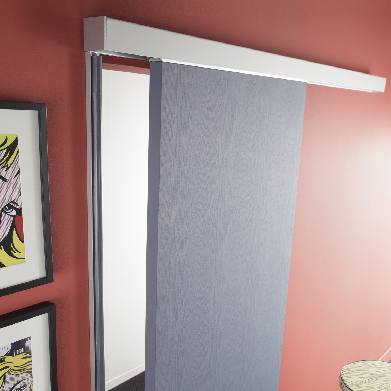rail coulissant et habillage swing acoustique artens pour porte de largeur 73cm leroy merlin. Black Bedroom Furniture Sets. Home Design Ideas