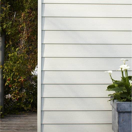 clin pour bardage pvc blanc 9003 freefoam faza 2 4 m leroy merlin. Black Bedroom Furniture Sets. Home Design Ideas