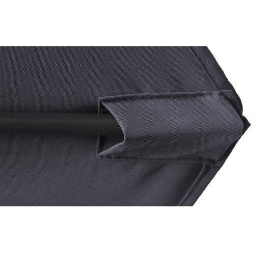 Parasol déporté Thalia gris rond, L.300 x l.300 cm