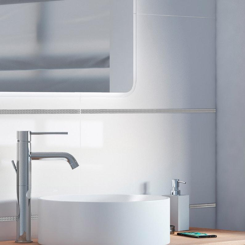 Faience Mur Blanc Brillant L30 X L60 Cm