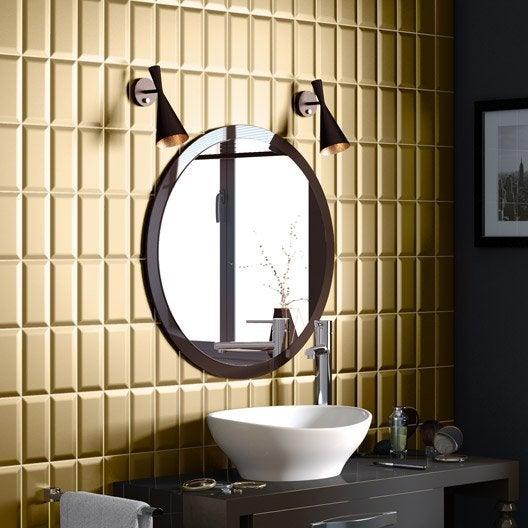 carreau metro or l 7 5 x cm leroy merlin. Black Bedroom Furniture Sets. Home Design Ideas