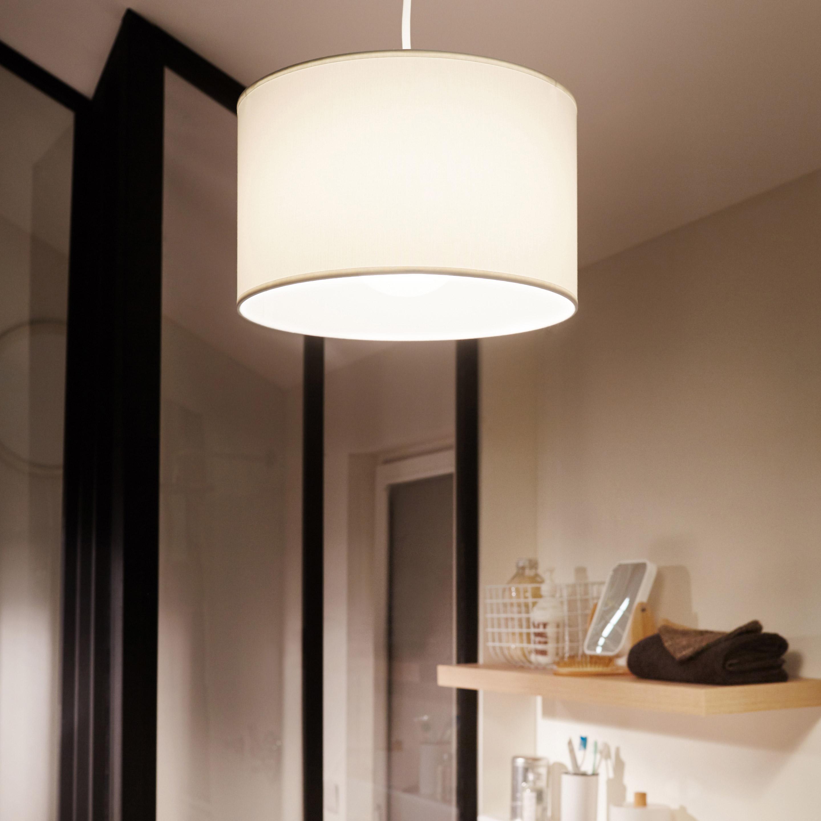 Suspension Bul coton blanc, sans ampoule 1x E27 COREP