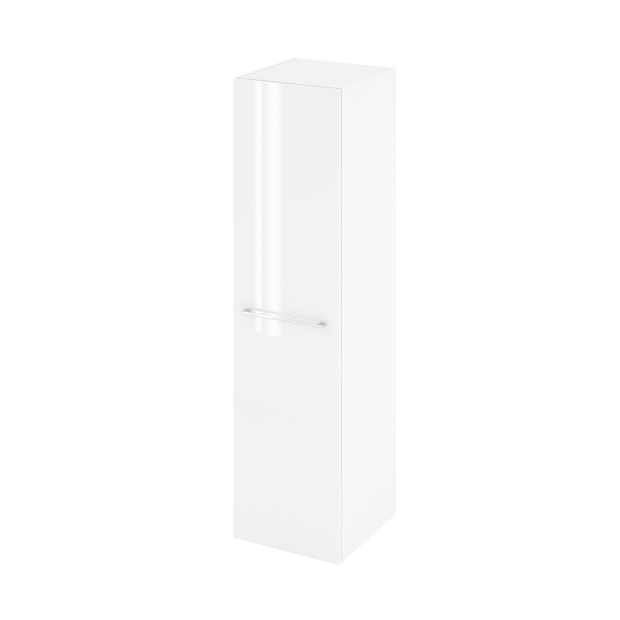 Colonne de salle de bains l.45 x H.173 x P.46.8 cm, blanc, Remix