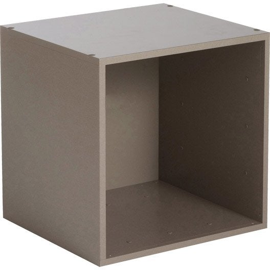 Etag re 1 case multikaz taupe x x cm - Rail etagere leroy merlin ...