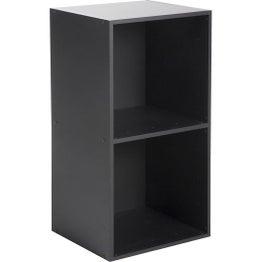 Etagère 2 cases MULTIKAZ, noir H.69.2 x l.35.2 x P.31.7 cm