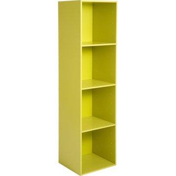 Etagère 4 cases MULTIKAZ, vert H.137.2 x l.35.2 x P.31.7 cm