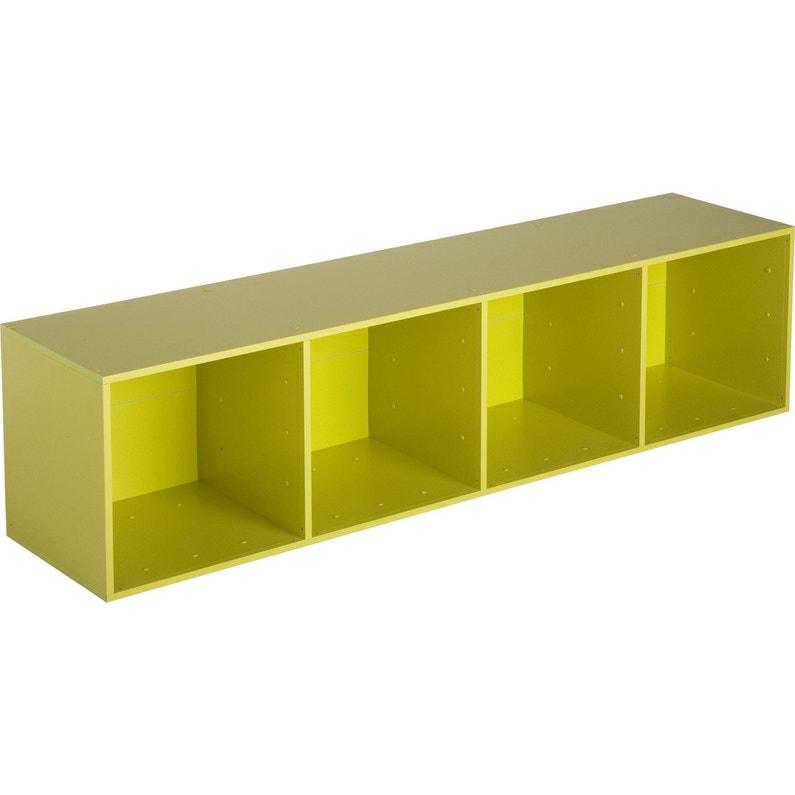 etag re 4 cases multikaz vert x x cm leroy merlin. Black Bedroom Furniture Sets. Home Design Ideas