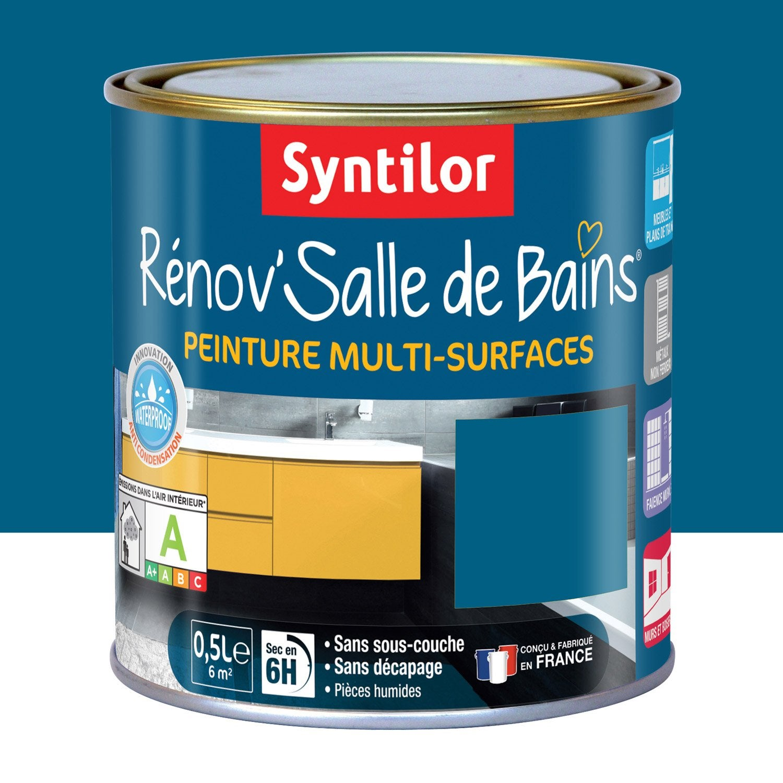 Peinture Rénov\'salle de bains SYNTILOR, Bleu lagon, 0.5 l | Leroy Merlin