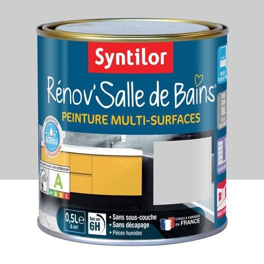 Peinture pour meuble cuisine et bain peinture cuisine et bain leroy merlin for Peinture salle de bain gris