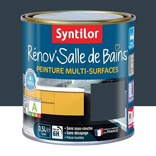 Peinture r nov 39 salle de bains syntilor gris granit 0 5 l leroy merlin for Peinture granit