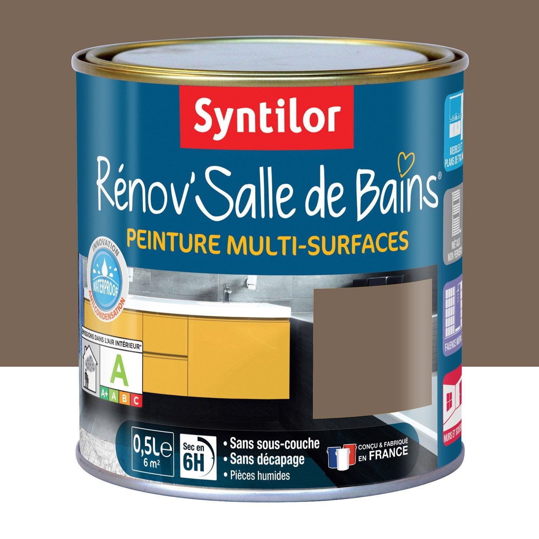 Peinture Rénovu0027salle De Bains SYNTILOR, Brun Velouté, ...