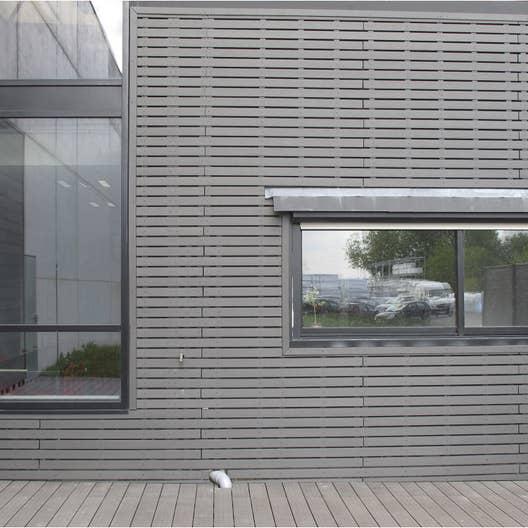 clin pour bardage bois composite gris ebony xyltech 2 7 m leroy merlin. Black Bedroom Furniture Sets. Home Design Ideas