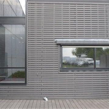 Clin pour bardage bois composite gris ebony Xyltech 2.7 m