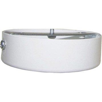 Pavillon métal 85mm TIBELEC, métal, blanc