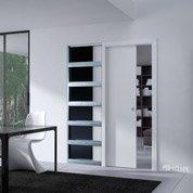 porte coulissante ch ne plaqu marron paris artens 204 x 93 cm leroy merlin. Black Bedroom Furniture Sets. Home Design Ideas