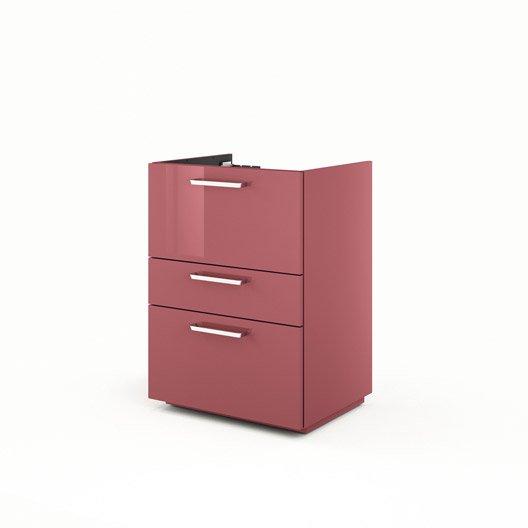 meuble sous-vasque l.60 x h.84 x p.48 cm, neo line   leroy merlin