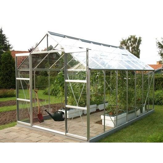 Serre de jardin mini serre verre horticole leroy merlin - Brico depot serre de jardin ...