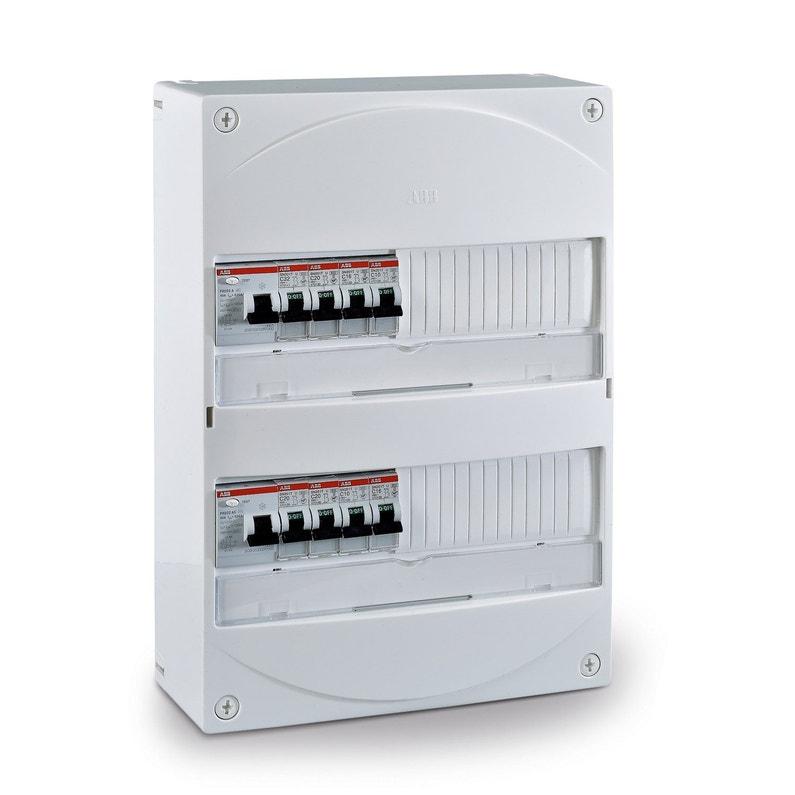 Tableau électrique équipé Et Précâblé Abb 2 Rangées 26 Modules