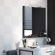 Décor Astuce cross white n°0, l.20 x L.20 cm