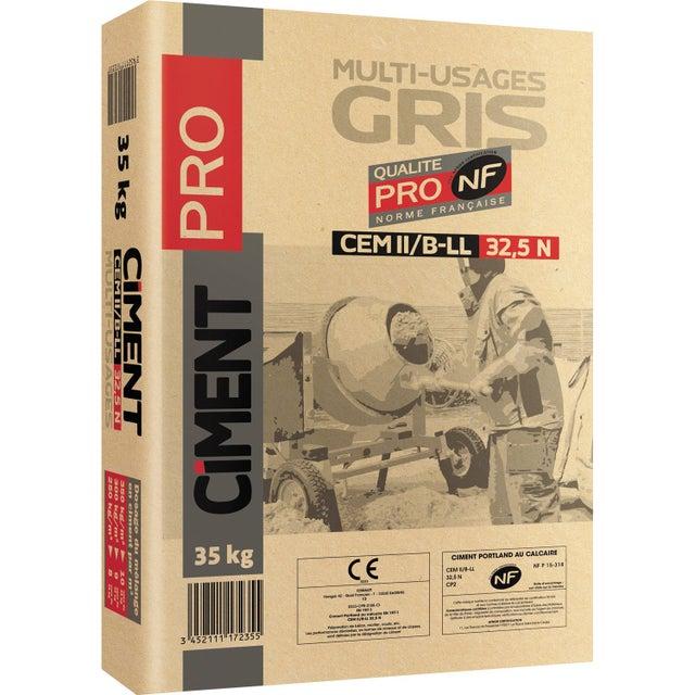 Ciment Pro Gris Nf 325 35 Kg