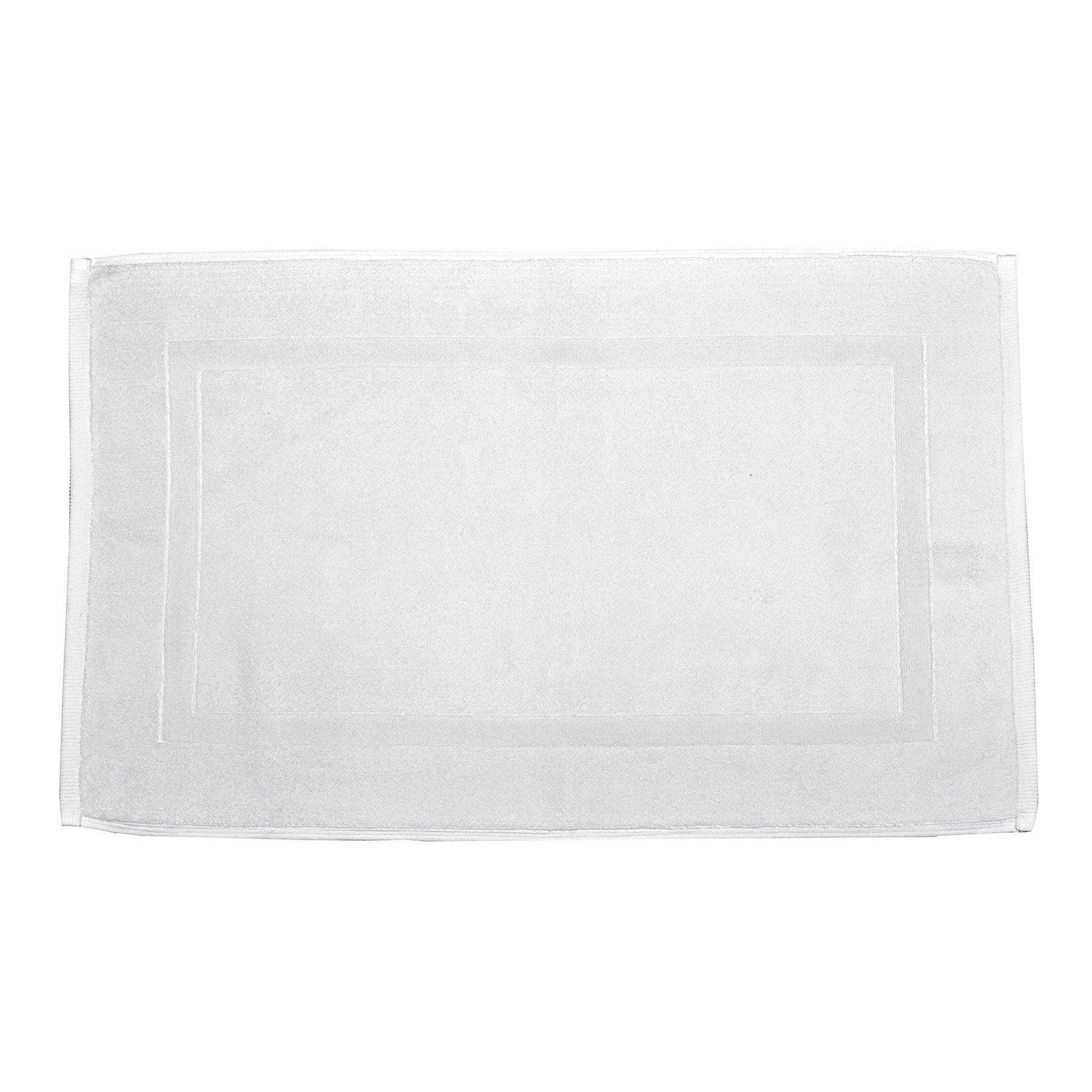 Tapis de bain l.50 x L.80 cm white n°0, Terry SENSEA