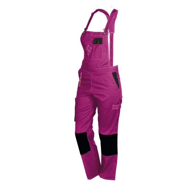 Salopette De Travail Fashion Securite Peps Rose Noir Taille 48