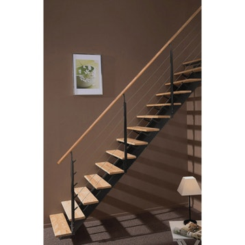 escalier escalier sur mesure au meilleur prix leroy merlin. Black Bedroom Furniture Sets. Home Design Ideas