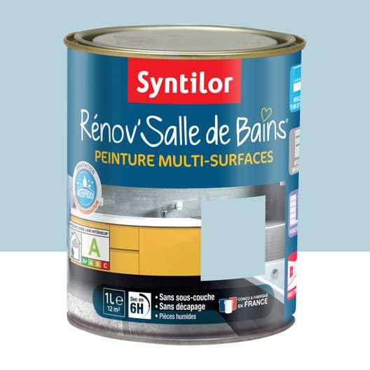 Peinture R Nov Salle De Bains Syntilor Bleu Mosa Que 1 L Leroy