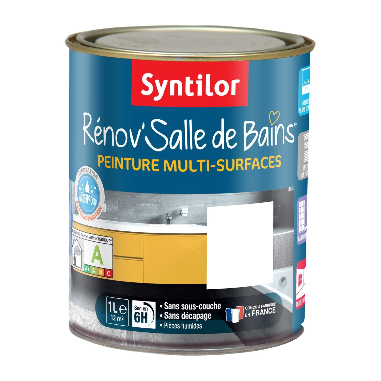 Peinture R Nov Salle De Bains Syntilor Blanc 1 L Leroy Merlin
