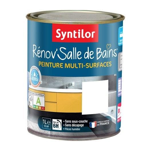 Peinture r nov 39 salle de bains syntilor blanc 1 l leroy merlin - Sous couche salle de bain ...