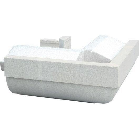 Corniche cg profil cache goutti re angle ext rieur blanc for Corniche exterieur