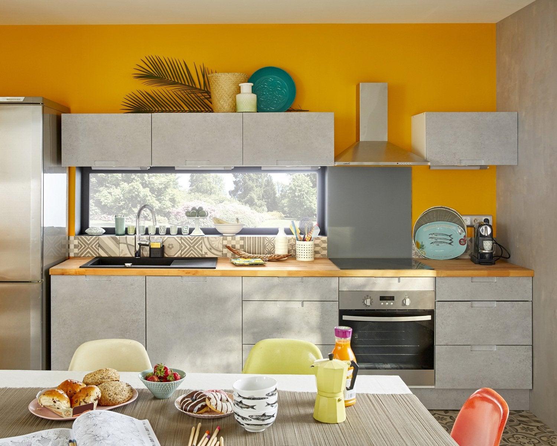 Redonner Du Pep S A La Cuisine Avec Une Peinture Orange Leroy Merlin