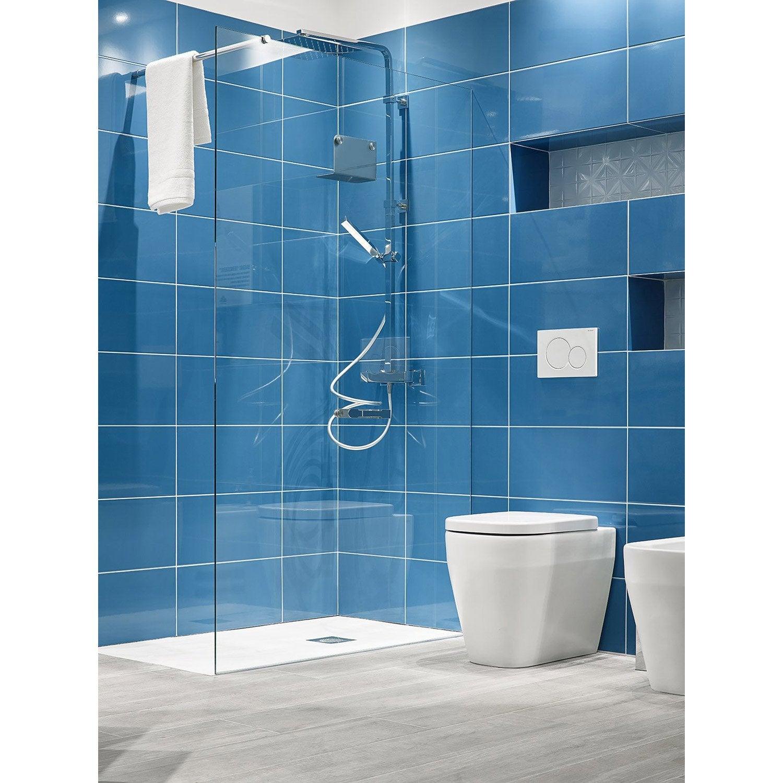 Carrelage mur bleu neo brillante l.25 x L.50 cm, Tonic