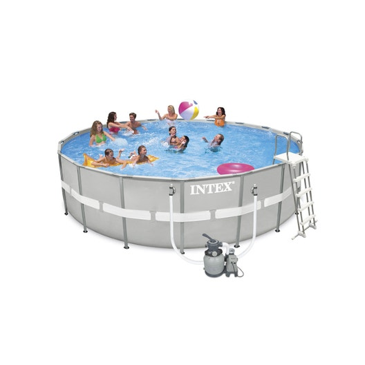 Piscine hors sol tubulaire ultra frame intex diam x for Liner piscine hors sol tubulaire