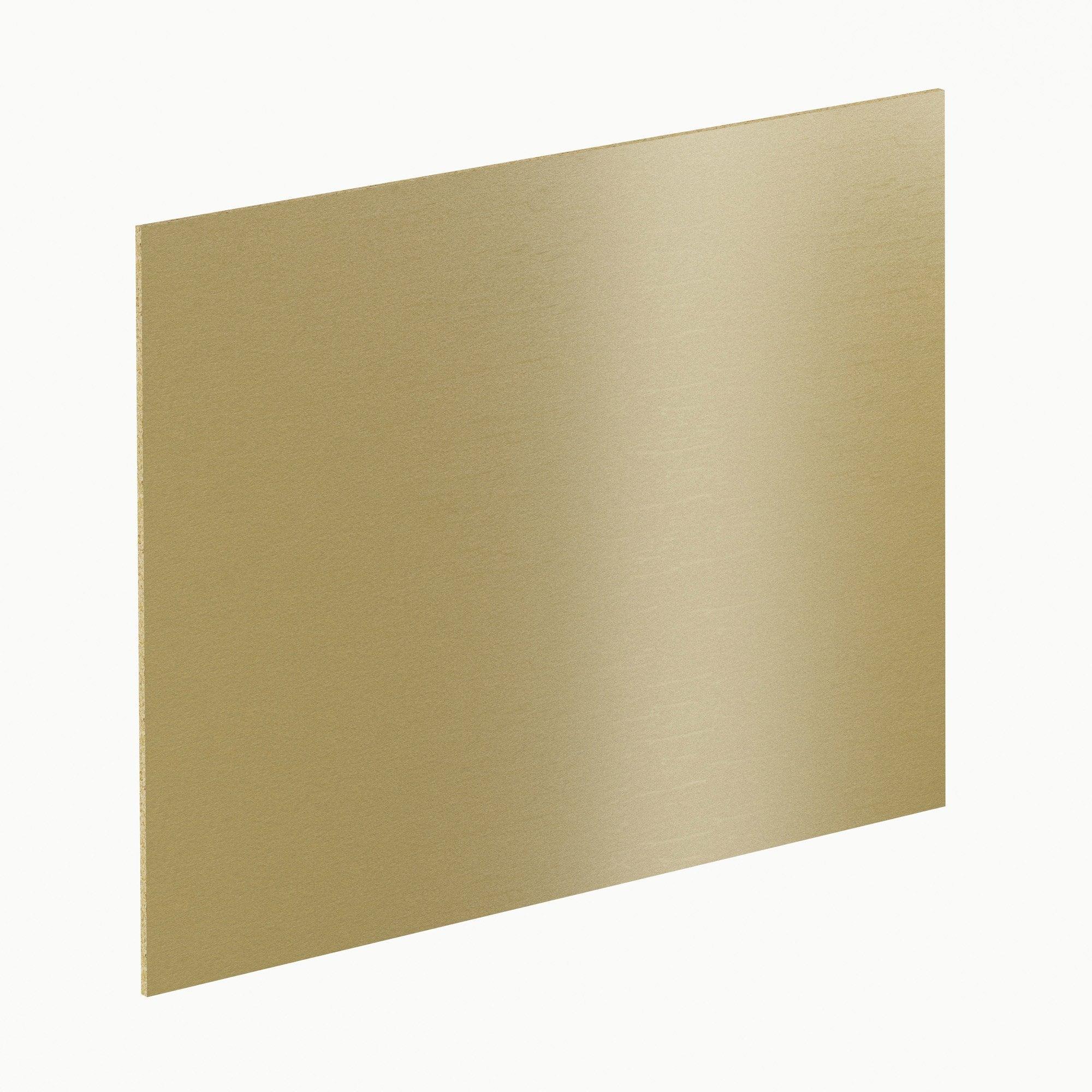 Crédence stratifié Effet doré brossé H.64 cm x Ep.9 mm x L.300 cm