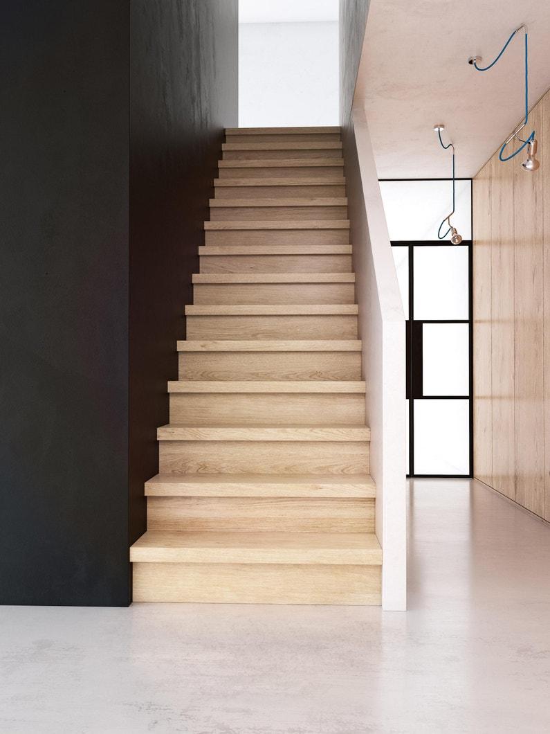Ajouter Des Contre Marche Escalier contremarche pour rénovation escalier chêne gris, l.130 x l.20 cm