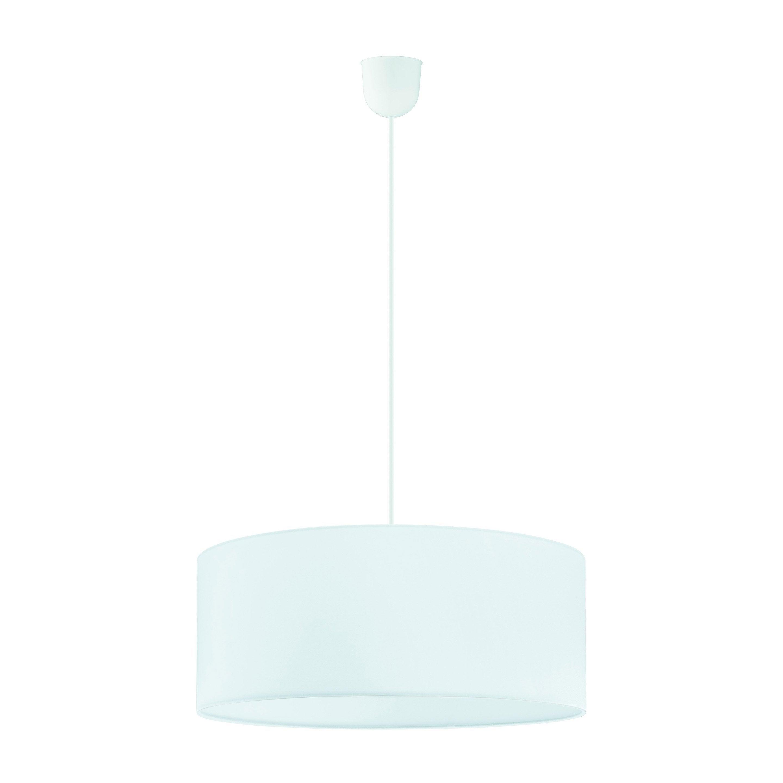 Suspension, classique tissu blanc INSPIRE Sitia 3 lumière(s) D.48 cm