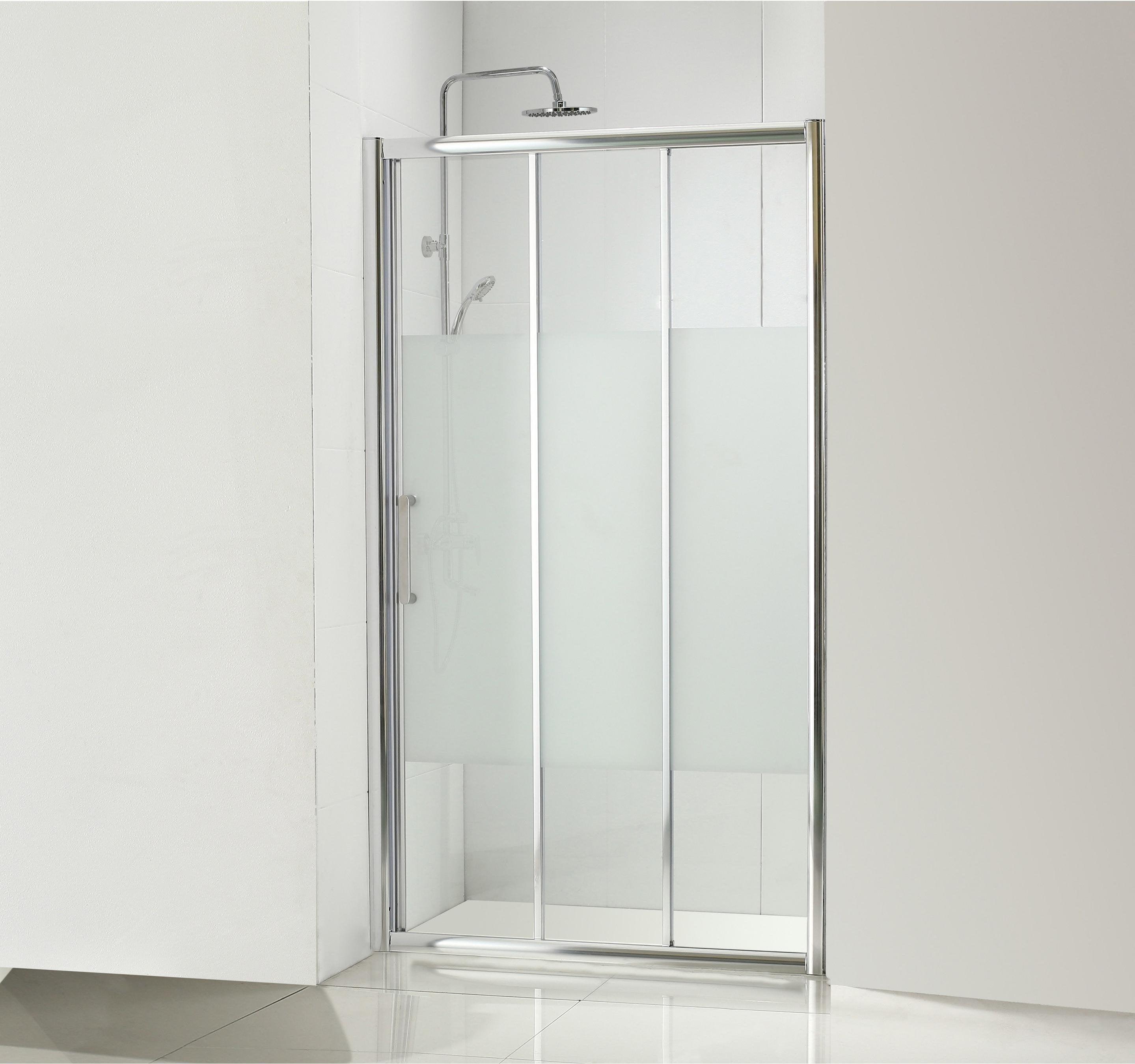 porte de douche coulissante 100 cm sérigraphié quad